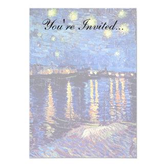 Van Gogh - Starry Night Over The Rhone 5x7 Paper Invitation Card