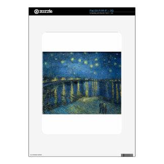Van Gogh: Starry Night Over the Rhone iPad Skins