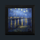 "Van Gogh: Starry Night Over the Rhone Keepsake Box<br><div class=""desc"">Van Gogh: Starry Night Over the Rhone.  Fantastic classic landscape painted by the Dutch painter Vincent Willem van Gogh. vintage, vincent van gogh, post impressionism, impressionist, post impressionist, gift, landscape, starry night over the rhone</div>"