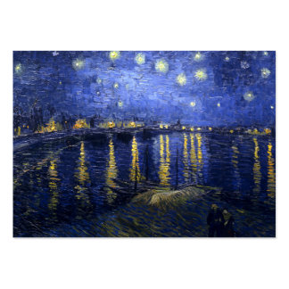 Van Gogh: Starry Night Over the Rhone Large Business Card