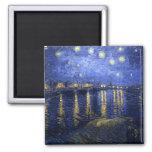 Van Gogh: Starry Night Over the Rhone Refrigerator Magnet