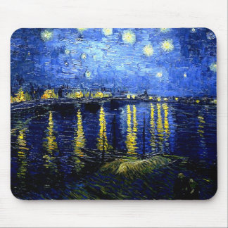 Van Gogh - Starry Night over the Rhone Mouse Pad