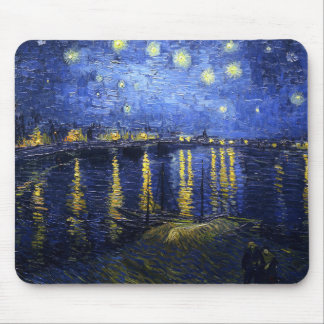 Van Gogh Starry Night Over The Rhone Mouse Pad