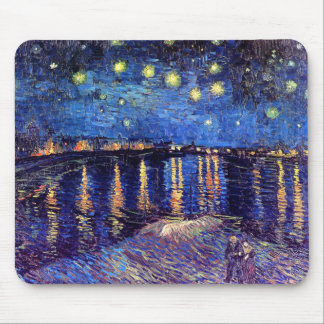 Van Gogh - Starry Night Over The Rhone Mousepads