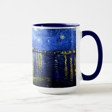 Coffee Themed Van Gogh - Starry Night over the Rhone Mug