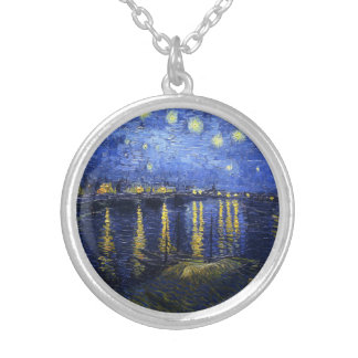 Van Gogh Starry Night Over The Rhone Necklace