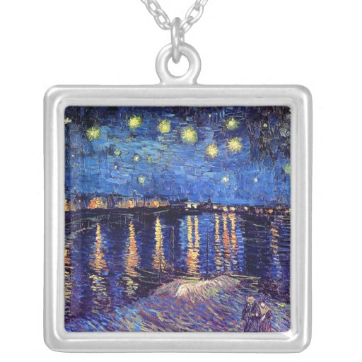 Van Gogh - Starry Night Over The Rhone Pendants