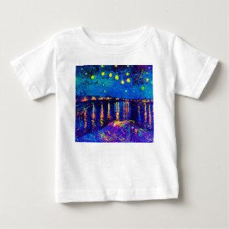 Van Gogh - Starry Night Over The Rhone Pop Art Baby T-Shirt