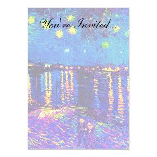 Van Gogh - Starry Night Over The Rhone Pop Art Card