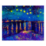 Van Gogh - Starry Night Over The Rhone Pop Art Poster
