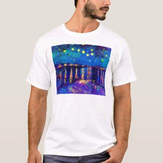 Van Gogh - Starry Night Over The Rhone Pop Art T-Shirt
