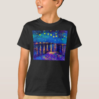 Van Gogh - Starry Night Over The Rhone Pop Art T-Shirt