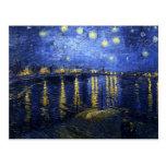 Van Gogh Starry Night Over The Rhone Postcard