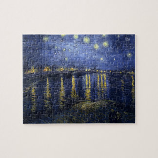Van Gogh Starry Night Over The Rhone Jigsaw Puzzle
