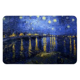 Van Gogh Starry Night Over The Rhone Rectangular Photo Magnet