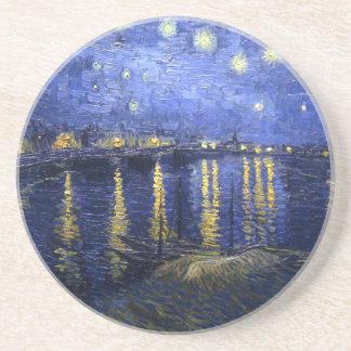 Van Gogh: Starry Night Over the Rhone Sandstone Coaster