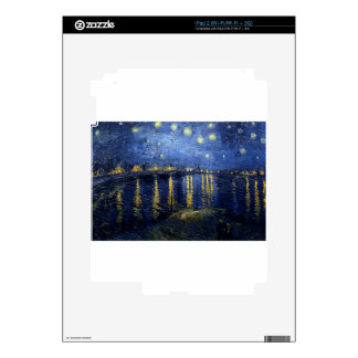Van Gogh: Starry Night Over the Rhone Skin For The iPad 2