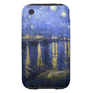 Van Gogh: Starry Night Over the Rhone Tough iPhone 3 Case