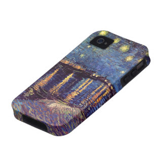 Van Gogh; Starry Night Over the Rhone, Vintage Art iPhone 4 Cases