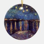 Van Gogh Starry Night Over the Rhone, Vintage Art Christmas Ornament