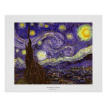 Van Gogh Starry Night painting by artist Vincent Posters