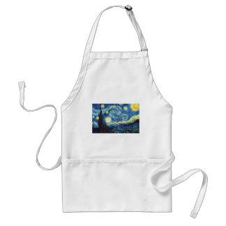 Van Gogh Starry Night Peace Love Destiny Adult Apron