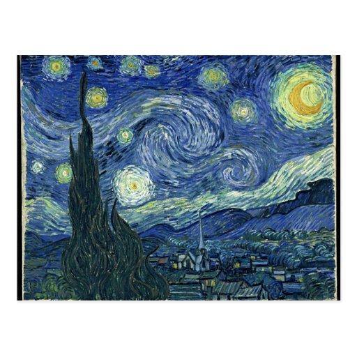 Van  Gogh Starry Night Postcard