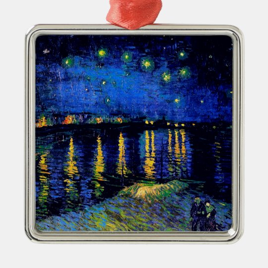 Van Gogh Starry Night Rhone (F474) Fine Art Metal Ornament