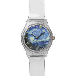 VAN GOGH Starry Night Roman Numerals Wrist Watch