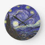 Van Gogh Starry Night Round Clock