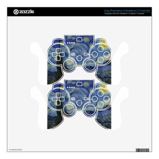 Van Gogh - Starry Night Skins For PS3 Controllers