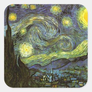 Van Gogh: Starry Night Square Sticker