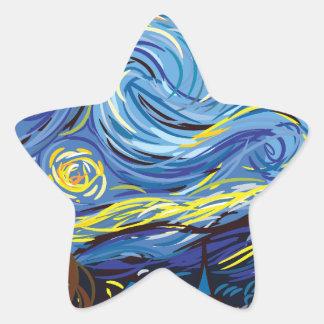 Van Gogh starry night Star Sticker