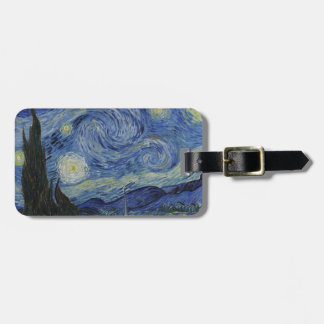 Van Gogh - Starry Night Tag For Luggage