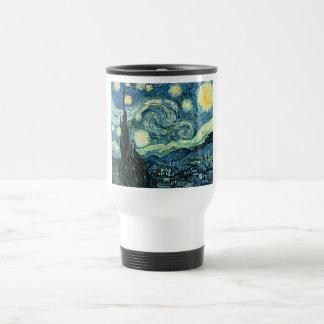 Van gogh starry night vector 15 oz stainless steel travel mug