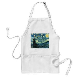 Van gogh starry night vector standard apron
