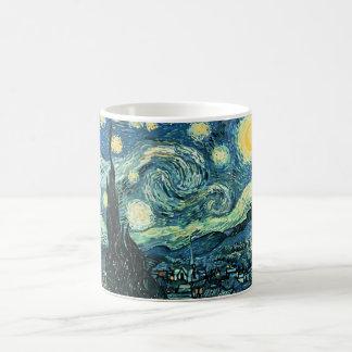 Van gogh starry night vector classic white coffee mug