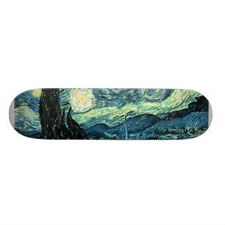 Van gogh starry night vector skateboard deck