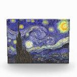 Van Gogh Starry Night, Vintage Fine Art Landscape Acrylic Award
