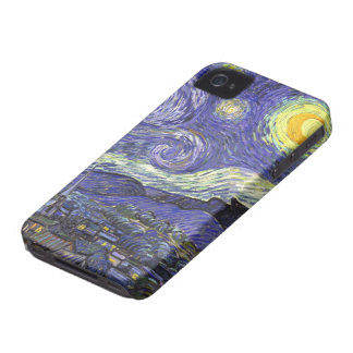 Van Gogh Starry Night, Vintage Fine Art Landscape Case-Mate iPhone 4 Case