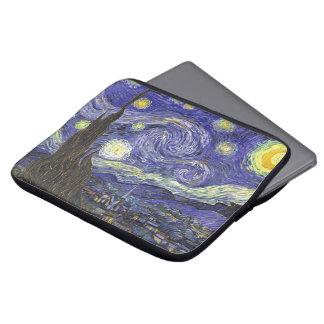 Van Gogh Starry Night, Vintage Fine Art Landscape Laptop Sleeve