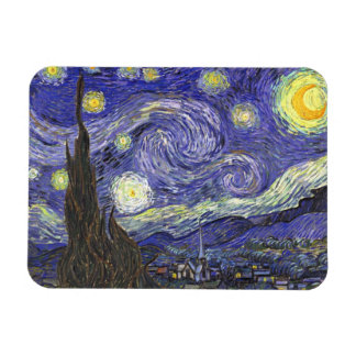 Van Gogh Starry Night, Vintage Fine Art Landscape Magnet
