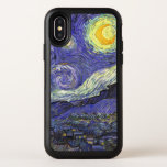 """Van Gogh Starry Night, Vintage Fine Art Landscape OtterBox Symmetry iPhone X Case<br><div class=""""desc"""">Add a beautiful design to your phone by choosing a Otter box case! Starry Night by Vincent van Gogh is a vintage fine art post impressionism landscape cityscape painting featuring a view of Saint Remy, France from van Gogh&#39;s asylum. The night sky is swirling with clouds with a bright crescent...</div>"""