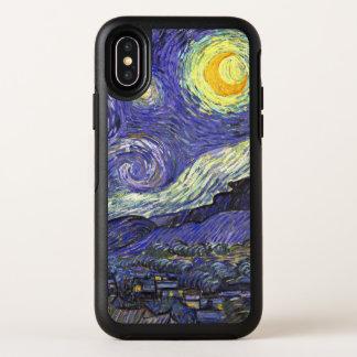 Van Gogh Starry Night, Vintage Fine Art Landscape OtterBox Symmetry iPhone X Case