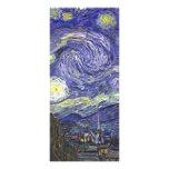 Van Gogh Starry Night, Vintage Fine Art Landscape Rack Card