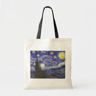 Van Gogh Starry Night, Vintage Fine Art Landscape Tote Bag