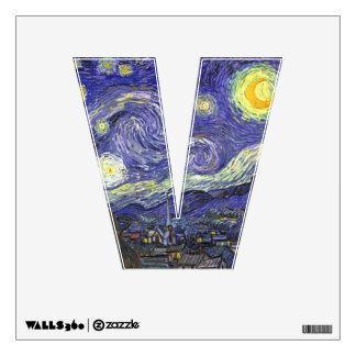 Van Gogh Starry Night, Vintage Fine Art Landscape Wall Decal