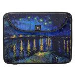 Van Gogh Starry Night Vintage Fine Art Sleeves For MacBooks