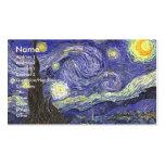Van Gogh Starry Night, Vintage Landscape Art Business Cards
