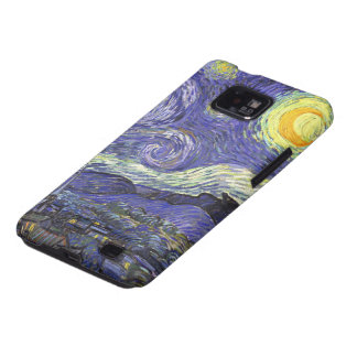 Van Gogh Starry Night, Vintage Landscape Art Galaxy SII Case
